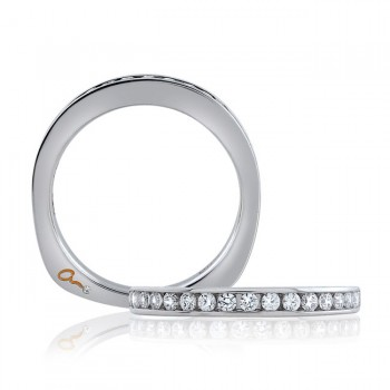 18 KARAT WHITE GOLD DIAMOND WEDDING BAND with 17 Diamond(s) 0.30ctw