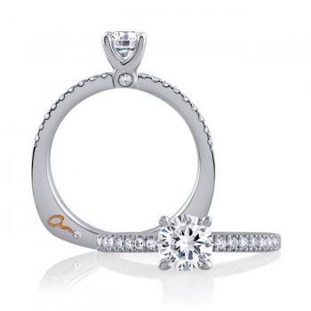 18 KARAT WHITE GOLD WEDDING RING with 2 Diamond(s) 0.00ctw