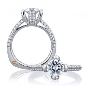 18 KARAT WHITE GOLD WEDDING RING with 68 Diamond(s) 0.57ctw