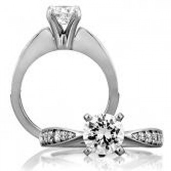 18 KARAT WHITE GOLD WEDDING RING with 12 Diamond(s) 0.37ctw