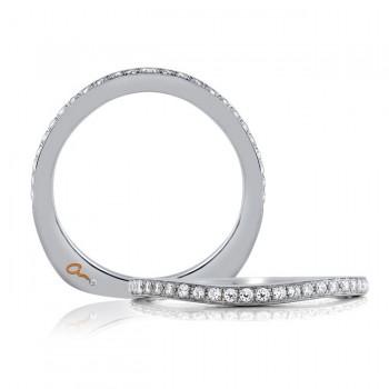 18 KARAT WHITE GOLD WEDDING BAND with diamonds - 4039WR-B