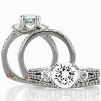 18 KARAT WHITE GOLD WEDDING RING with diamonds - 4047WR-A