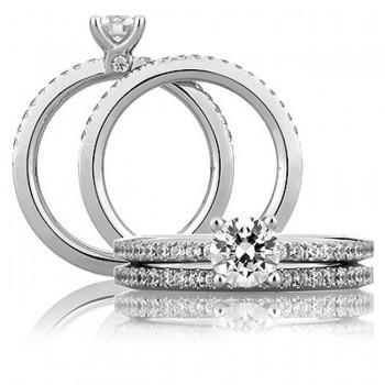 18 KARAT WHITE GOLD DIAMOND WEDDING BAND with 20 Diamond(s) 0.26ctw