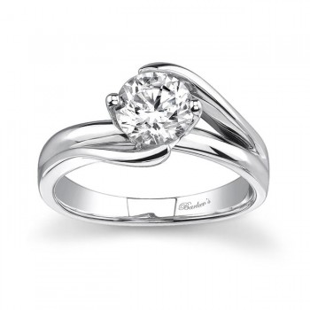 14 KARAT WHITE GOLD SOLITAIRE WEDDING RING