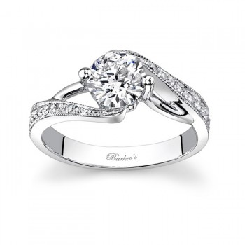 White Gold Engagement Ring - 7605LW