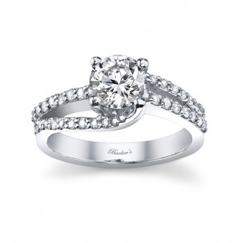White Gold Engagement Ring - 7677LW