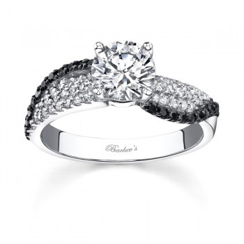 Black Diamond Engagement Ring - 7690LBKW