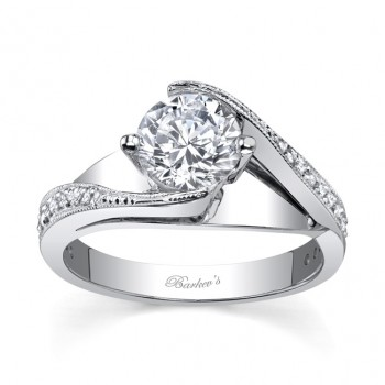 White Gold Engagement Ring - 7807LW