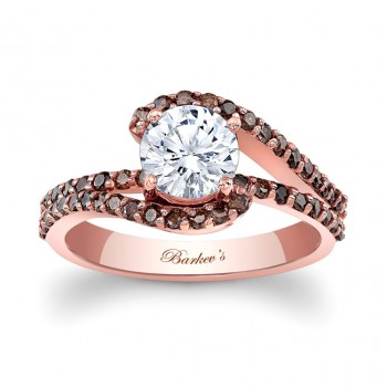 Rose Gold Engagement Ring With Champagne Diamonds