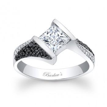 Black and White Diamond Engagement Ring