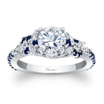 Engagement Ring With Blue Sapphires