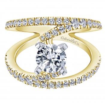 14K Yellow/White Gold Nova Ring