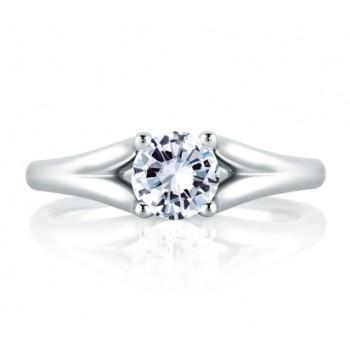 SPLIT SHANK MODERN WITH DIAMOND LOOP SET PROFILE ENGAGEMENT RING
