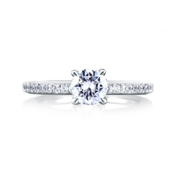 DELICATE SINGLE ROW PAVÉ ENGAGEMENT RING
