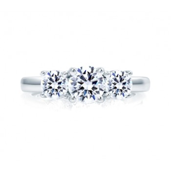MULTI THREE STONE ROUND ENGAGEMENT RING
