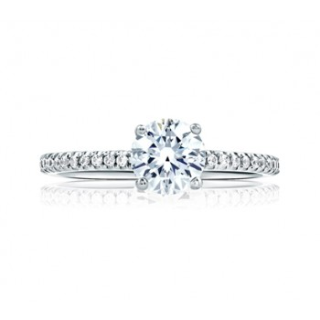 CLASSIC ROUND CENTER ETERNITY MICRO PAVÉ ENGAGEMENT RING