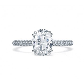 QUILTED PAVÉ OVAL DIAMOND CENTER ENGAGEMENT RING