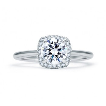 QUILTED PAVÉ HALO ENGAGEMENT RING