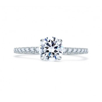 UNIQUE ROUND CUT QUILTED ENGAGEMENT RING