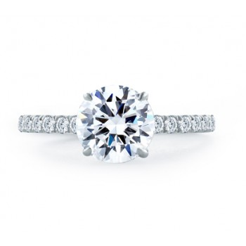 STATEMENT ROUND QUILTED ENGAGEMENT RING