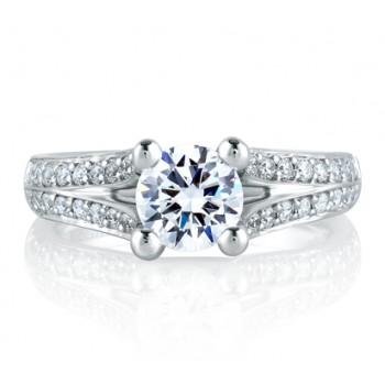 SPLIT FLOWERING DIAMOND SHANK ENGAGEMENT RING