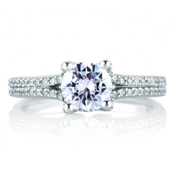 CLASSIC PAVÉ SPLIT SHANK ENGAGEMENT RING