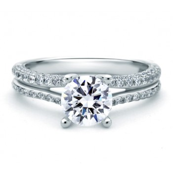 DESIGNER SINGLE PAVÉ SPLIT SHANK ENGAGEMENT RING