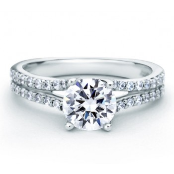 DESIGNER DOUBLE PAVÉ SPLIT SHANK ENGAGEMENT RING