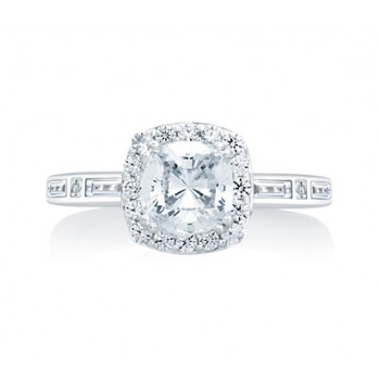 Cushion Cut Halo With Baguettes And Princess At The Sides