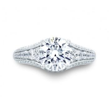 Vintage Round Diamond Center Solitaire Engagement Ring