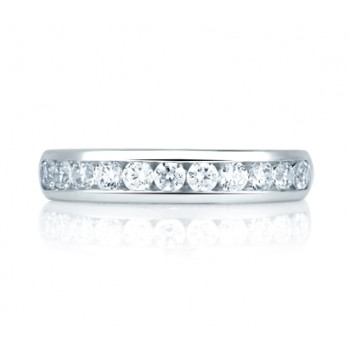 Simple Round Diamond Channel Set Wedding Band