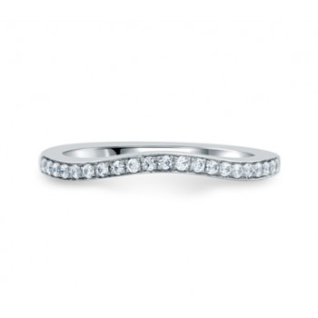 Delicate Pavé Bridal Wedding Band