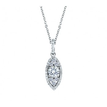 HALO MARQUISE SHAPED PENDANT