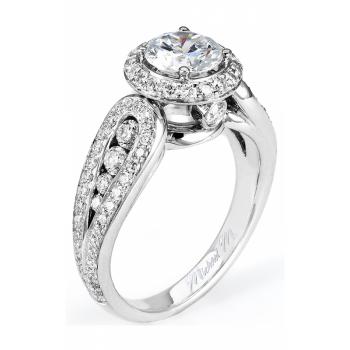 Michael M Vercelli Diamond Halo Engagement Ring