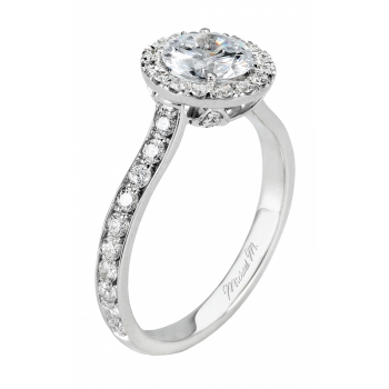 Michael M Amore Pave Diamond Engagement Ring