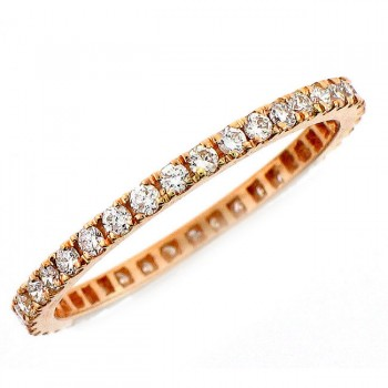 18 KARAT ROSE GOLD DIAMOND WEDDING BAND with 18 Diamond(s) 0.27ctw