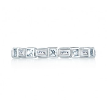 Princess and Baguettes Eternity Anniversary Ring