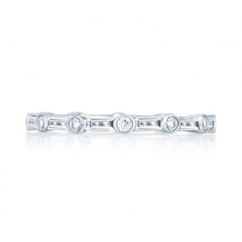 Round and Baguettes Eternity Anniversary Ring