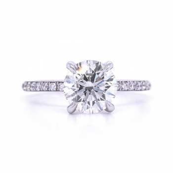 Bridal Rings Company Round Diamond Engagement Ring in 18K White Gold