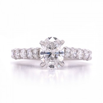 Bridal Rings Company Diamond Engagement Ring in 18K White Gold