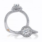 18 KARAT WHITE GOLD WEDDING RING with diamonds - 4023WR-A