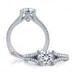 18 KARAT WHITE GOLD WEDDING RING with diamonds - 4028WR-A